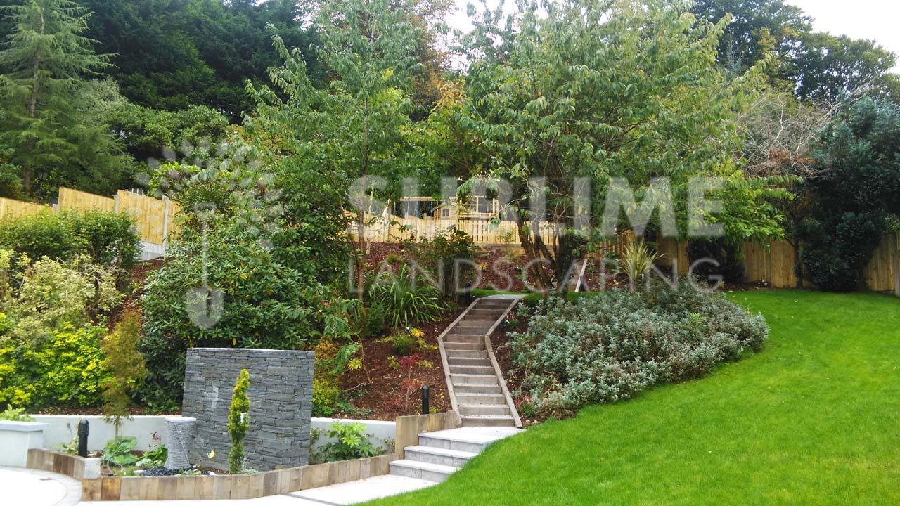 Sloping Garden Design Ideas. Sloping Landscape Design Back. Full Size Of Modern Garden Design ...